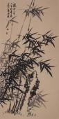 办公室字画 张国稳四尺竖幅竹子图
