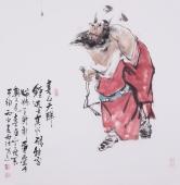 杨西沐斗方钟馗像《喜从天降》