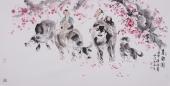 河南美协杨西沐四尺横幅人物画《春韵图》