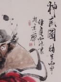 杨西沐四尺竖幅人物画钟馗《神威图》