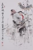 杨西沐四尺三开写意人物画《高原魂》