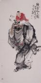 杨西沐四尺竖幅人物画《鈡公送子图》