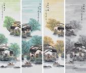 广西美协秋实写意风景画《春夏秋冬》