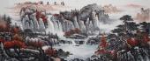 曾庆淮写意山水画作品小八尺横幅《鸿运天成》