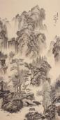 【已售】国家一级美术师滕传辉四尺竖幅精品山水《春晓映山村》