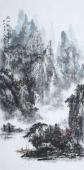 吉林美协杨秀亮四尺竖幅山水画《空山新雨后》