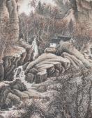 【已售】王立芳四尺竖幅写意山水画《太行深秋》