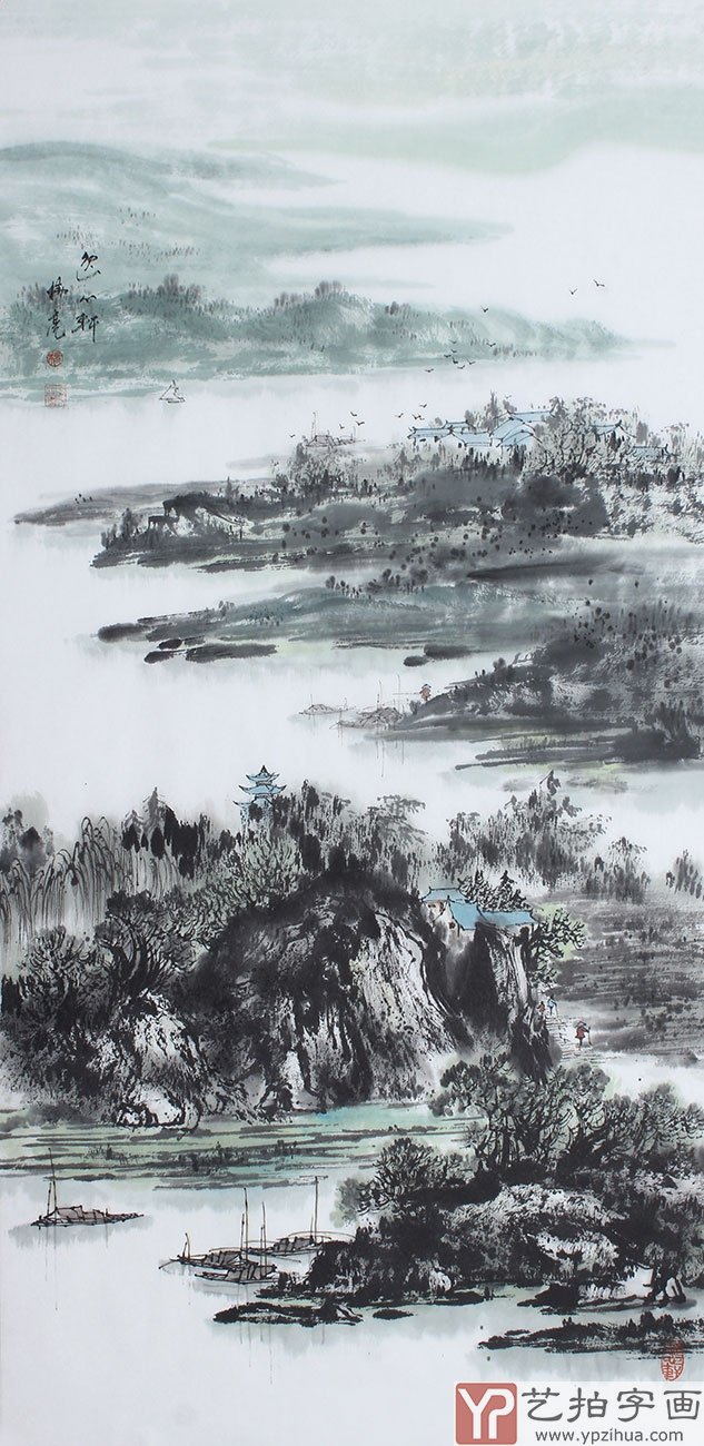 【已售】国家一级美术师杨秀亮四尺竖幅写意山水画