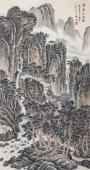 【已售】河北美协王立芳四尺竖幅写意山水画《云壑松风图》