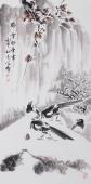 花鸟画家王学增三尺竖幅《瑞雪兆丰年》