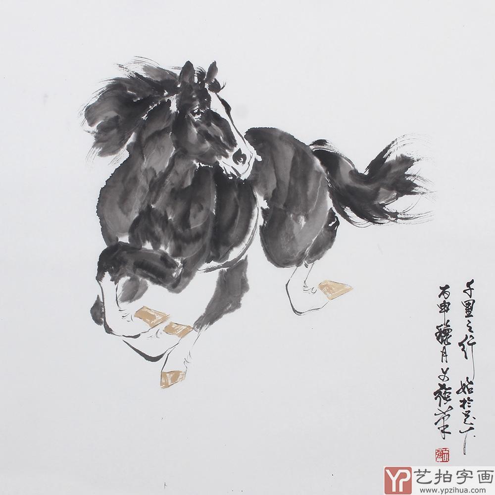 国画家王文强写意动物画作品《千里之行始于足下》