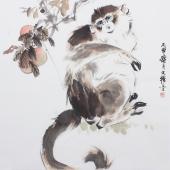 【询价】动物画名家王文强写意精品《献瑞图》