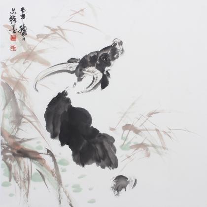 【询价】国家一级美术师王文强动物画国画牛系列《孺子牛》