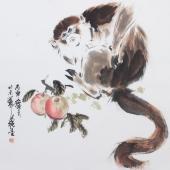 【询价】王文强动物画作品十二生肖之《猴》