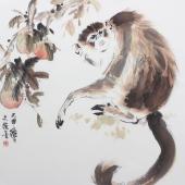 【询价】动物画名家王文强写意精品写意国画猴