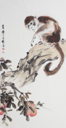 侯图系列 申猴献寿