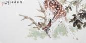 【询价】著名画家王文强动物画作品鹿《瑞鹿祥和》