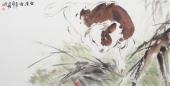 国画牛 王文强动物画牛系列《鸿运图》