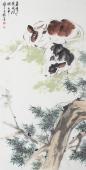 国画牛 王文强写意动物画作品