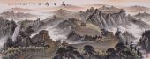 著名画家曾庆淮小八尺写意长城《万里雄风》