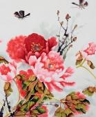 名家字画 杨丽凤四尺横幅写意牡丹《富贵吉祥》
