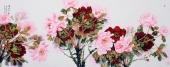 杨丽凤写意小六尺国画牡丹《富贵中华》