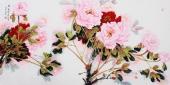 杨丽凤四尺横幅精品写意国画《锦》
