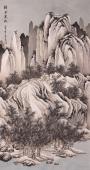 【询价】著名画家王立芳四尺竖幅国画山水《瑞雪寒林》