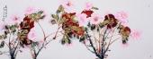 著名画家杨丽凤写意小六尺牡丹《花开富贵》