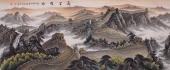 曾庆淮小八尺写意国画 长城系列《万里雄风》