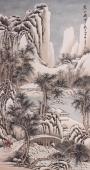 【已售】名家山水画 王立芳四尺竖幅写意冰雪山水《寒山积雪》