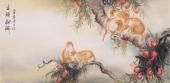 封侯图 云志四尺动物画作品《金猴献瑞》