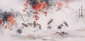 云志写意 动物画作品《玉兔呈祥》