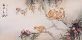 云志写意动物画作品《和睦一家亲》