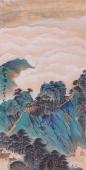 山西美协孔国宾三尺写意国画山水画《观云海》