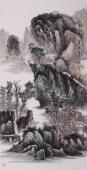 著名画家王立全四尺竖幅写意国画作品《仙居人家》