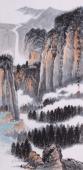 山西美协孔国宾三尺写意山水画《深壑寻幽》