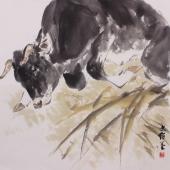 【询价】国家一级美术师王文强动物画作品《孺子牛》