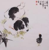 【询价】王文强写意动物画作品《春晴》