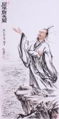 张砚钧写意人物画作品《屈子问天图》