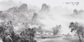 著名画家云浩四尺横幅写意山水作品