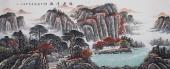 著名山水画家曾庆淮八尺写意国画《鸿运千秋》