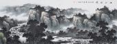 名家字画 牛鸿亮精品写意小六尺山水画《江山胜境》