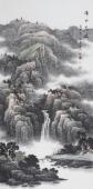 著名山水画家牛鸿亮四尺竖幅《溪山高远》