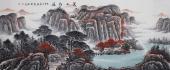 湖南美协曾庆淮八尺横幅写意山水画《万山红遍》