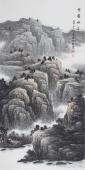 著名山水画家牛鸿亮精品四尺竖幅《云岭松华》