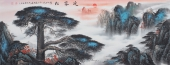 国家一级美术师陈厚刚精品写意国画《迎客松》