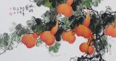 餐厅装饰画 黄艺三尺横幅国画葫芦《福禄图》