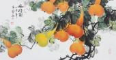 黄艺精品写意花鸟画《福禄图》