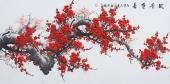 周翁弟四尺写意国画梅花图《铁骨争春》